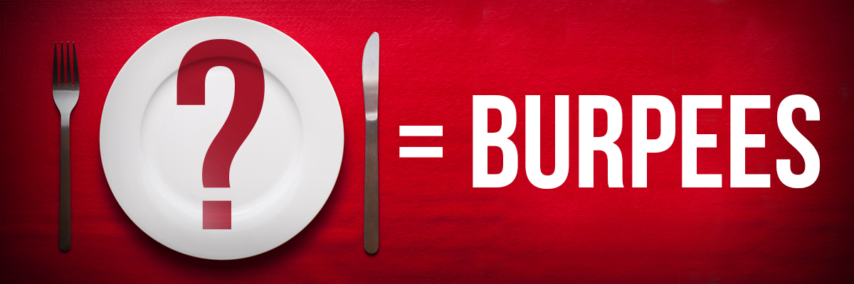 Burpee food calorie equivalent