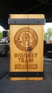Carolina Sprint Biggest Team Award